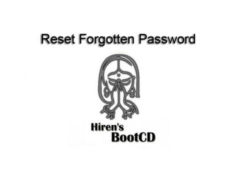 Easy Change Forgotten Windows Login Password With HBCD