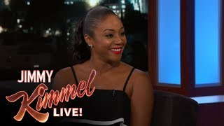 """Tiffany talks about working with Jada Pinkett Smith in the new movie Girls Trip, the hard R rating it received and the infamous 'grapefruiting' scene.Caitlyn Jenner on Late Night Talk Show Hosts Teasing Bruce Jenner https://youtu.be/luSk8C9VhbwSUBSCRIBE to get the latest #KIMMEL: http://bit.ly/JKLSubscribeWatch Mean Tweets: http://bit.ly/KimmelMT10Connect with Jimmy Kimmel Live Online:Visit the Jimmy Kimmel Live WEBSITE: http://bit.ly/JKLWebsiteLike Jimmy Kimmel on FACEBOOK: http://bit.ly/KimmelFBLike Jimmy Kimmel Live on FACEBOOK: http://bit.ly/JKLFacebookFollow @JimmyKimmel on TWITTER: http://bit.ly/KimmelTWFollow Jimmy Kimmel Live on TWITTER: http://bit.ly/JKLTwitterFollow Jimmy Kimmel Live on INSTAGRAM: http://bit.ly/JKLInstagramAbout Jimmy Kimmel Live:Jimmy Kimmel serves as host and executive producer of Emmy-winning """"Jimmy Kimmel Live,"""" ABC's late-night talk show. """"Jimmy Kimmel Live"""" is well known for its huge viral video successes with 5.6 billion views on YouTube alone. Some of Kimmel's most popular comedy bits include - Mean Tweets, Lie Witness News, Jimmy's Twerk Fail Prank, Unnecessary Censorship, YouTube Challenge, The Baby Bachelor, Movie: The Movie, Handsome Men's Club, Jimmy Kimmel Lie Detective and music videos like """"I (Wanna) Channing All Over Your Tatum"""" and a Blurred Lines parody with Robin Thicke, Pharrell, Jimmy and his security guard Guillermo. Now in its fifteenth season, Kimmel's guests have included: Johnny Depp, Meryl Streep, Tom Cruise, Halle Berry, Harrison Ford, Jennifer Aniston, Will Ferrell, Katy Perry, Tom Hanks, Scarlett Johansson, Channing Tatum, George Clooney, Larry David, Charlize Theron, Mark Wahlberg, Kobe Bryant, Steve Carell, Hugh Jackman, Kristen Wiig, Jeff Bridges, Jennifer Garner, Ryan Gosling, Bryan Cranston, Jamie Foxx, Amy Poehler, Ben Affleck, Robert Downey Jr., Jake Gyllenhaal, Oprah, and unfortunately Matt Damon.Tiffany Haddish on New Movie Girls Triphttps://youtu.be/e7-Wbl9xXWI"""