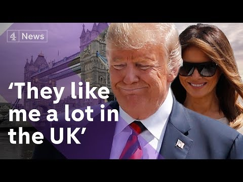 Donald Trump in Britain: President lands as protests begin