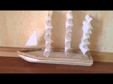 Корабль из пенопласта видео