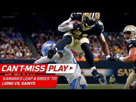 Video: Alvin Kamara's Nasty Hurdle Sets Up Drew Brees' Big TD Pass! | Can't-Miss Play | NFL Wk 6 Highlights