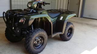 9. 2016 Honda FourTrax Foreman ES 500 - TRX500FE1G I ATV Walk-Around Video