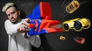 NERF QUE LANÇA CARROS DE BRINQUEDO!! Nerf Nitro Flashfury - Hasbro Toys Cars for Kids