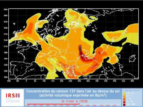 Oblak rádioaktivity z Černobylu – animácia šírenia #Video
