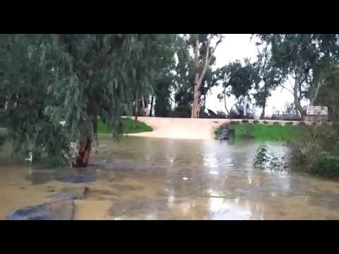 The Jordan River overflows. Ouria Sade