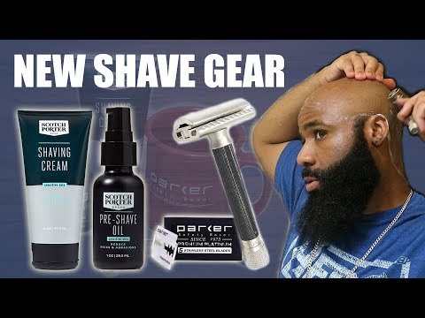 Beard oil - Parker Variant Safety Razor + Scotch Porter PreShave Oil =   New Shave Gear!