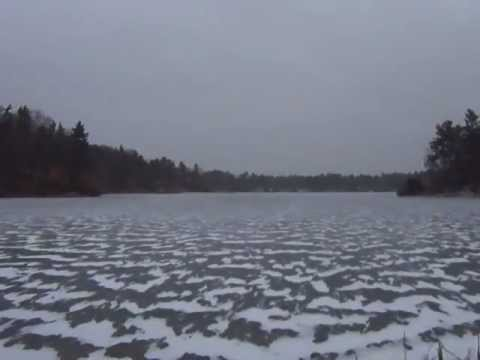 When you throw a golf ball out on to the lake and the water is frozen(X-Post with /r/mildlyinteresting)