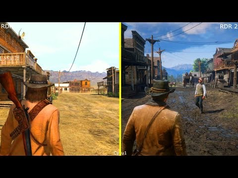Red Dead Redemption vs Red Dead Redemption 2 PS3 vs PS4 Pro Early Graphics Comparison