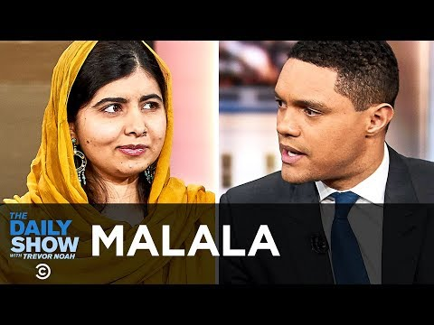 """Malala Yousafzai - Helping Refugee Girls with """"We Are Displaced"""" & Malala Fund   The Daily Show"""
