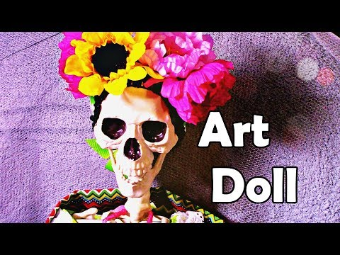 Day of the dead Art doll | Coco inspired | dia de los muertos | how to make doll clothes