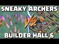 SNEAKY ARCHERS vs BUILDER HALL 6! Max Archer BH6 Attacks in  Clash of Clans