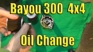 3. Kawasaki Bayou Oil Change: 1989-2004: 2x4 or 4x4