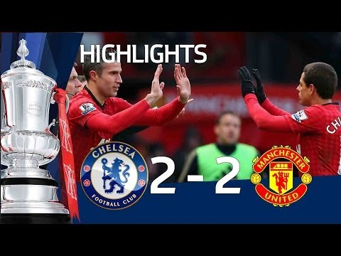 Manchester United vs Chelsea 2-2 official goals and highlights, FA Cup Sixth Round   FATV