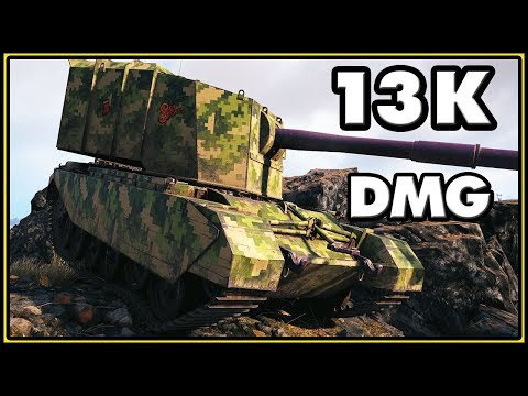 13,4K Damage Without Taking Damage - FV4005 Stage II - World of Tanks Gameplay