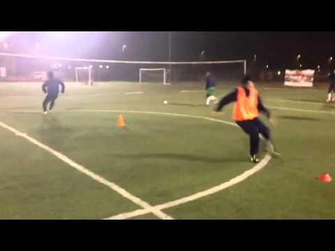 Calcio: circuito rapidità/ cambi di direzione / velocità... step 1
