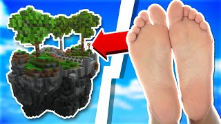 Playing Skyblock With My Feet... | Minecraft Skyblock