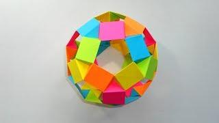 Оригами Футбольный мяч из бумаги