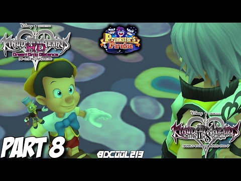 KINGDOM HEARTS DREAM DROP DISTANCE HD 2.8 GAMEPLAY WALKTHROUGH PART 8 PRANKSTER'S PARADISE (RIKU)