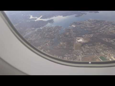 Baltimore Maryland aerial view of the city approaching airplane to BWI airport Feb 01 2017