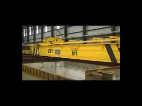 25 Ton Double Girder Overhead Crane Testing Video