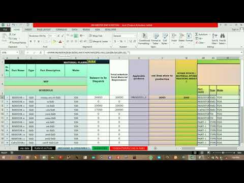 How to create RAW(bom) material planning and Cover day's sheet (EXCEL Format is ready to download )