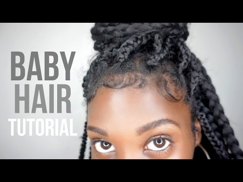 How To Slay + Lay Your Edges! Baby Hair Tutorial (видео)