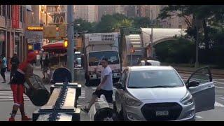 Machete vs. trash can: Bizarre fight captured on video