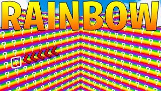 OVERPOWERED RAINBOW LUCKY BLOCK WALLS! - MINECRAFT MODDED MINIGAME