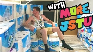 TOILET PAPER FORT WARS!