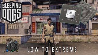 Quick Look at sleeping dogs graphics comparison from low to extreme.Subscribe to the channel Specs:Intel core i7-4710HQ8 RAM 1 TB hard drive GTX 860m 2 GDRR5
