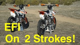 3. EFI on 2018 KTM 2 Strokes!?  Fuel Injection is HERE in 2018! - Episode 227