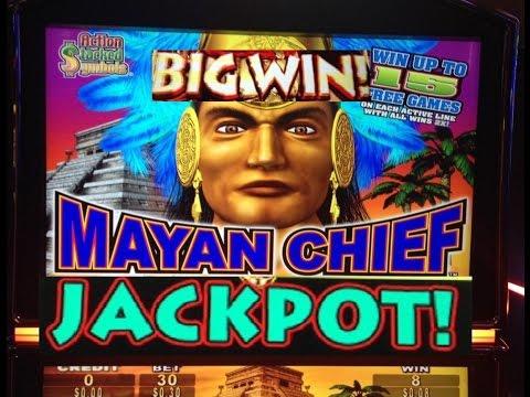 BIG JACKPOT! MAYAN CHIEF slot machine Bonus HANDPAY WIN
