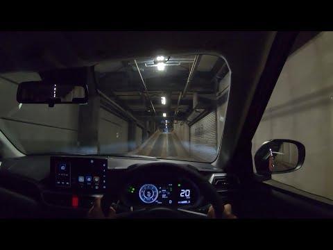 【Test Drive】2019 New DAIHATSU ROCKY 1.0L Turbo 4WD - POV Night Drive