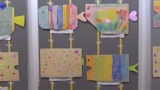 羽黒小児童作品展(2年紙工作・4年習字)