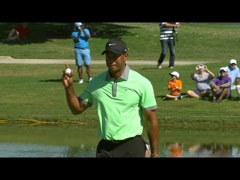 Woods - In the third round of the 2014 World Golf Championships - Cadillac Championship, Tiger Woods rolls in a 35-foot birdie putt on the par-3 15th hole. Subscribe...