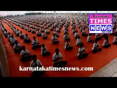 International Yoga Day in ALVA'S COLLEGE CAMPUS Moodabidri