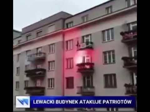 Lewacki budynek atakuje patriotów!
