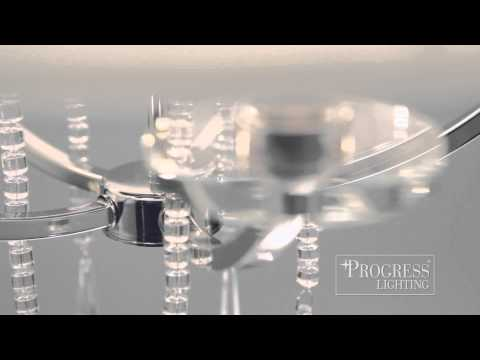 Video for P3881-104:  Nisse Polished Nickel Four-Light Pendant