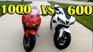 10. CBR1000rr vs CBR600rr Comparison - 2012 Honda CBR1000rr Review - 2008 Honda CBR600rr