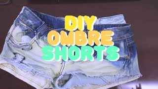 Ombre Shorts DIY - YouTube