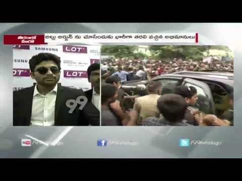 Allu Arjun Launches LOT Mobile Store  Visakhapatnam  99tv