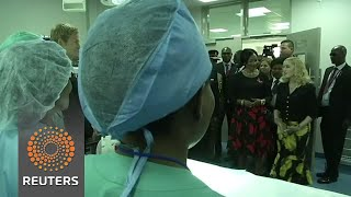 Pop singer Madonna has opened a a children's hospital in Malawi, built by her chairty. Rough cut (no reporter narration. Subscribe: ...