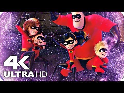 Incredibles 2 All Clips & Trailer 4K UHD (2018) Disney Pixar Movie
