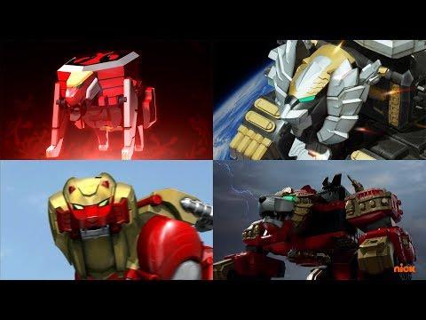Power Rangers summon the Neo-Saban Lion Zords | Samurai, Super Megaforce | Power Rangers Official