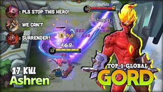 Video Non Stop Gank! Crazy Gord Mid Lane 17 Kill! Ashren Top 1 Global Gord ~ Mobile Legends MP3, 3GP, MP4, WEBM, AVI, FLV Mei 2019