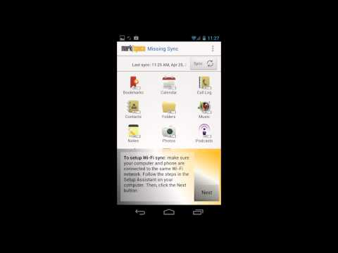 Video of The Missing Sync for Android