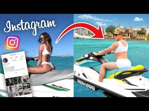 Copying MY GIRLFRIENDS Instagram Photos!! (CHALLENGE)