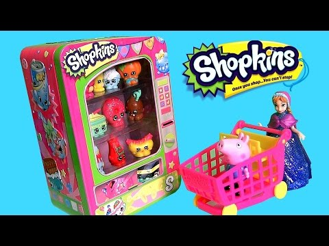 surprise - Disneycollector presents Disney Frozen Princess Anna at Small Mart Vending Machine Shopping for Shopkins Surprise Basket with George Pig of the Nickelodeon cartoon Peppa Pig. Shopkins Vending...