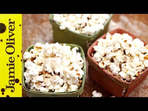 with - Watch out! Jamie Oliver and Gennaro Contaldo are in a mischievous mood! This simple popcorn recipe, tossed in sugar flavoured with Christmas spices, is a gre...