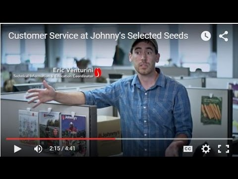 Customer Service at Johnny's Selected Seeds